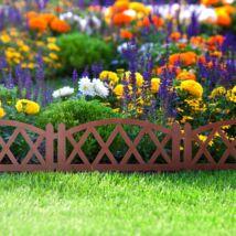 Virágágyás szegély / kerítés (60 x 24 cm, Terrakotta)