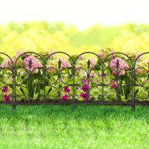 Virágágyás szegély / kerítés (68 x 38 cm, fekete)