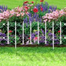 Virágágyás szegély / kerítés (61 x 30 cm, fehér)