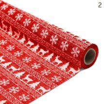Asztali futó karácsonyi (piros, szarvasos, 28 x 180 cm)