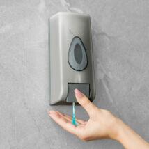 Szappanadagoló - kézzel működtethető - 350 ml - fali - ezüst