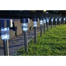 Inox napelemes kerti lámpa (10 darabos csomag)