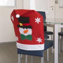 Hóember mintájú székdekoráció