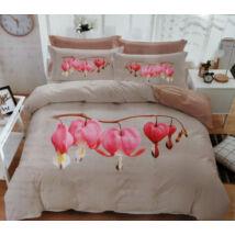 7 részes Sendia ágyneműhuzat garnitúra 3D virágos mintával (rózsaszín virággal)