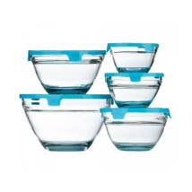 5 részes üvegtál szett (Kék színben)