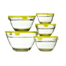 5 részes üvegtál szett (Sárga színben)
