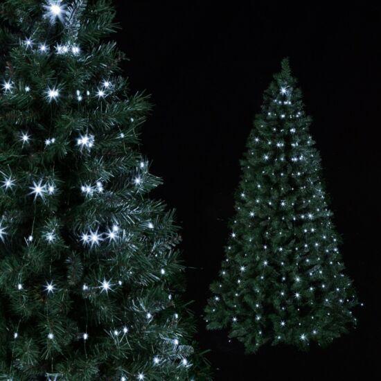 200 LED-es karácsonyfa fényfüzér, fényköteg (hidegfehér, micro led)