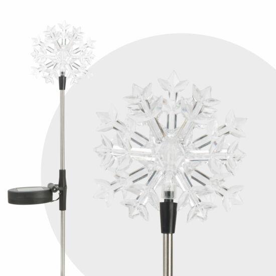 LED-es napelemes lámpa (hópehely)