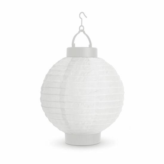 Napelemes lampion (fehér, hidegfehér LED, 21 cm)