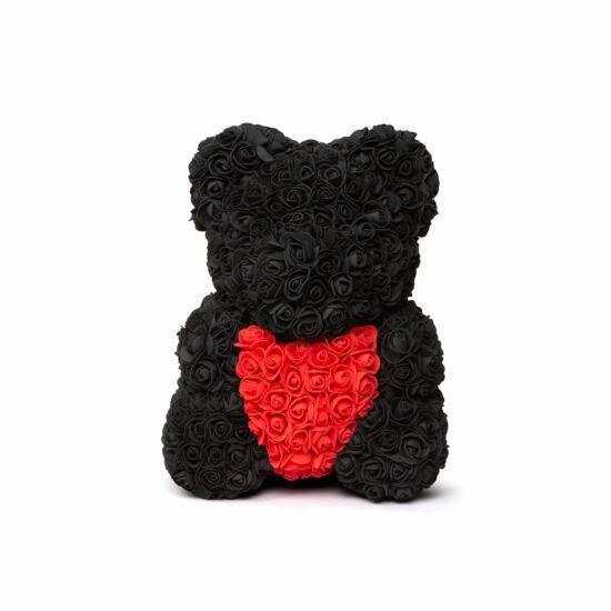 Rózsamaci (Fekete, Piros, 25 cm)