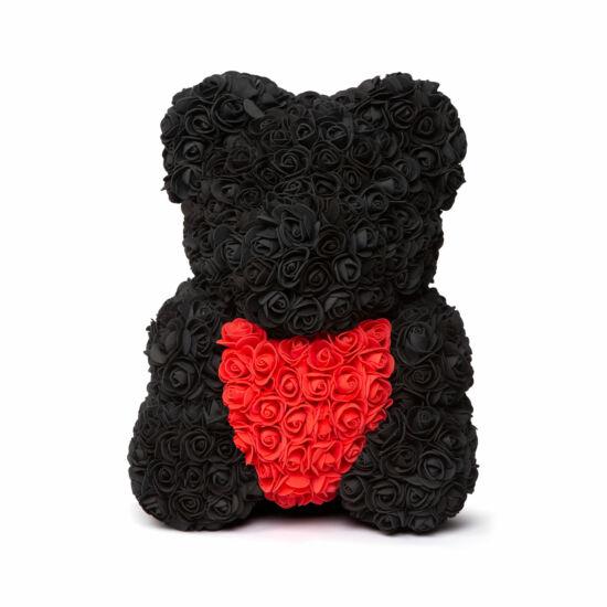 Rózsamaci (fekete, piros, 40 cm)