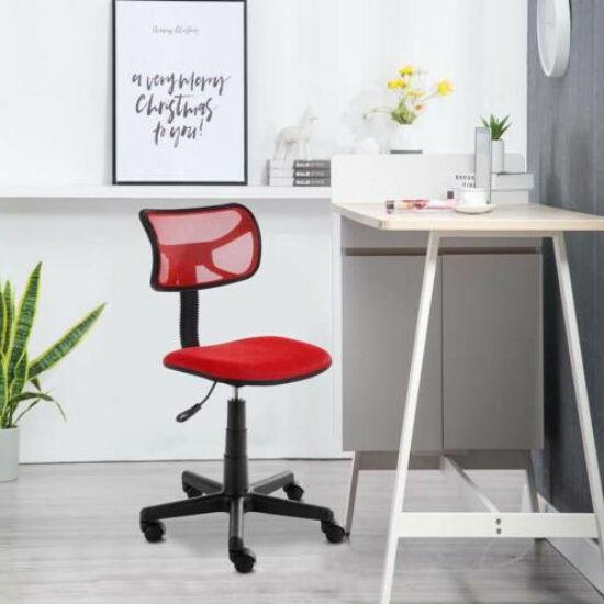 Alacsony háttámlás irodai szék (piros)