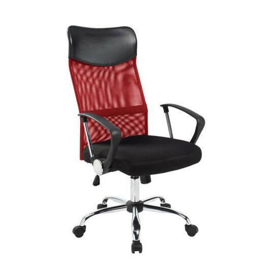 Ergonomikus irodai szék magasított háttámlával (piros)