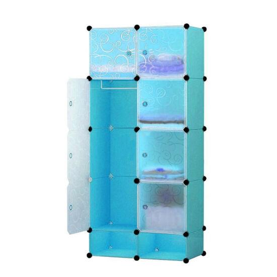Műanyag elemes szekrény (kék)