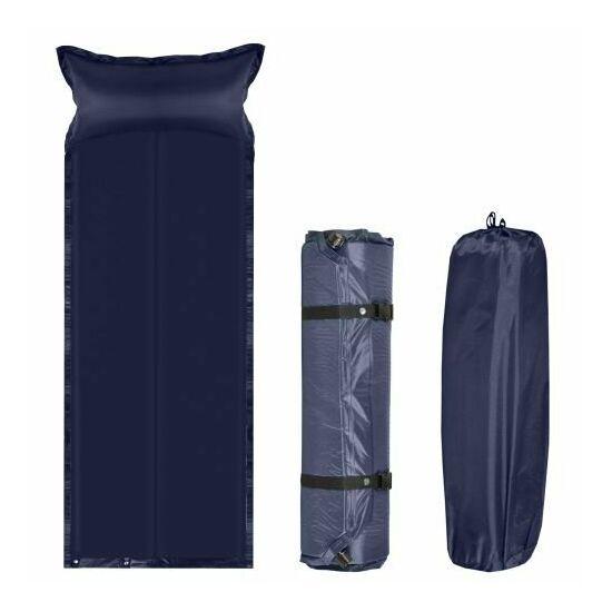 Önfelfújó habszivacs matrac (kék)