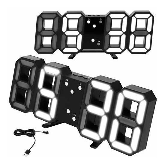 LED-es ébresztőóra hőmérővel