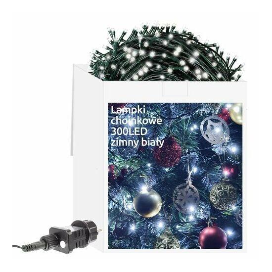 Karácsonyfa fény 300 LED hideg fehér