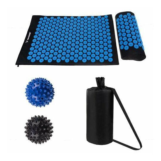 Akupresszúrás szőnyeg párnával, labdákkal