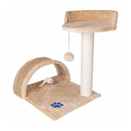 Macskakaparó - oszlop + ágy (bézs)
