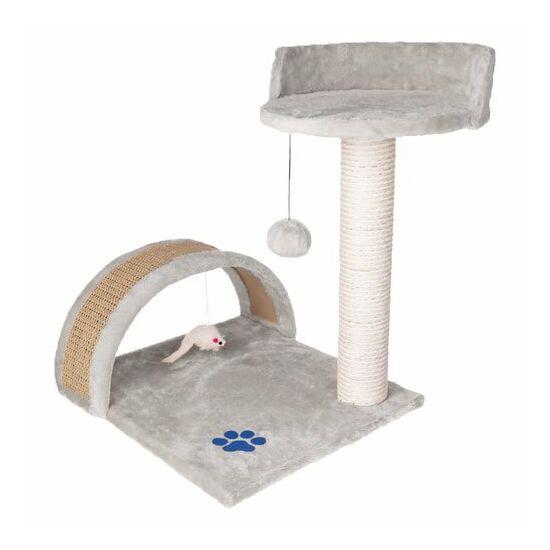 Macskakaparó - oszlop + ágy (szürke)