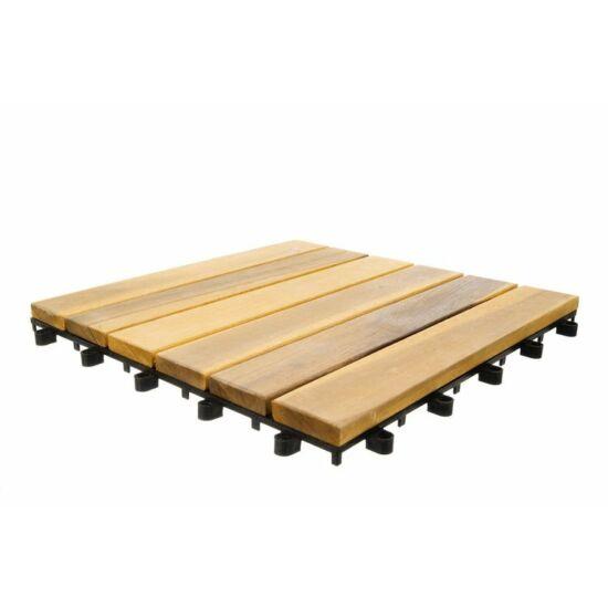 Teraszcsempe 10 db összepattintható fa csempe elemmel 30x30cm