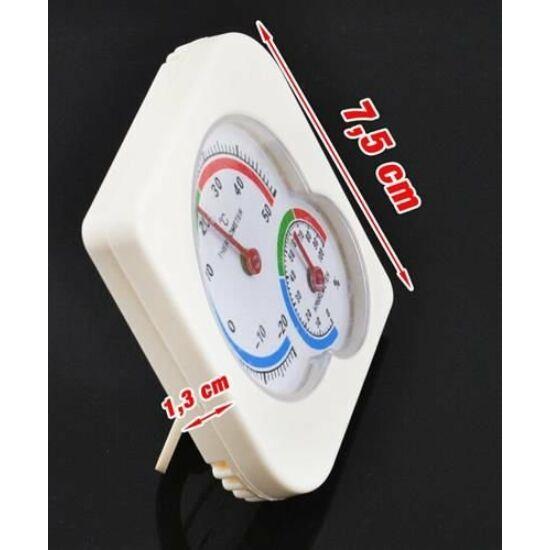 Analóg higrométer hőmérővel
