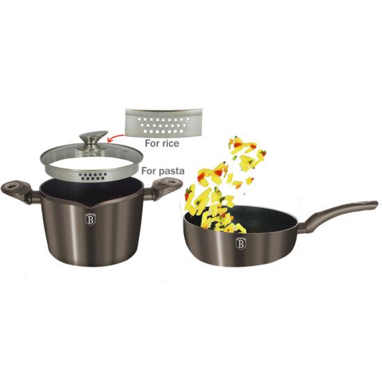 3 részes tészta/rízs edénykészlet, Carbon Metallic Line