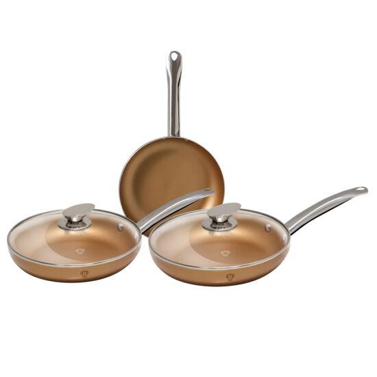 5 részes serpenyő szett, copper, Le Chef Line