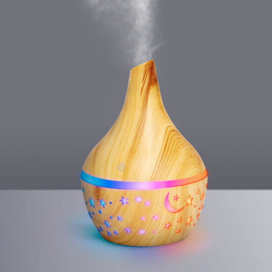 Bewello fényterápiás aroma diffúzor - fahatású minta - 300 ml