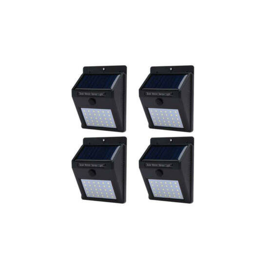 Falra szerelhető szolár világítás (4 db)