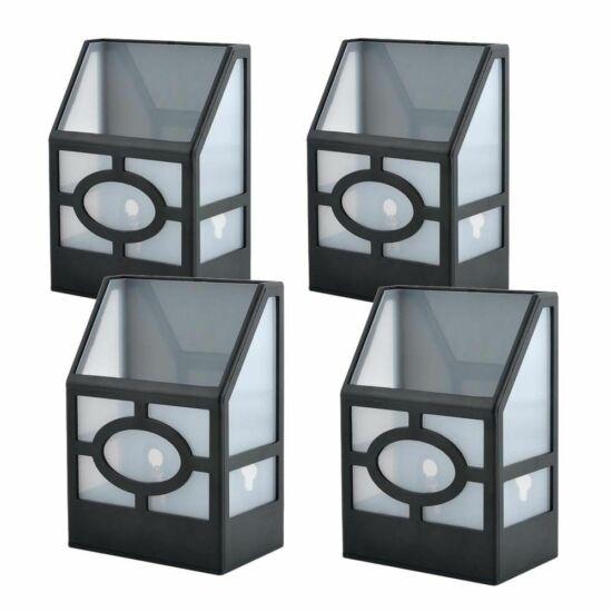 Kültéri fekete napelemes lámpa