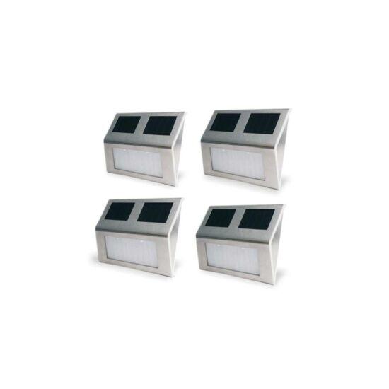Falra szerelhető kültéri napelemes lámpa (4db)