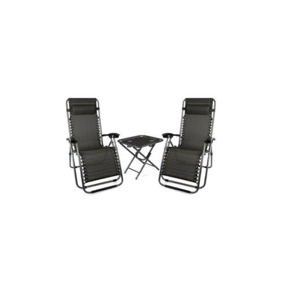 Zéró gravitációs kerti szék asztallal (2 db)