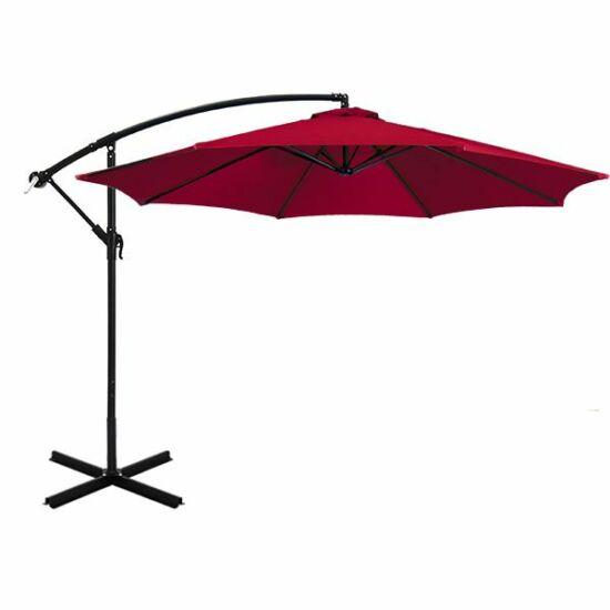Függő napernyő, (2,7 m, piros)