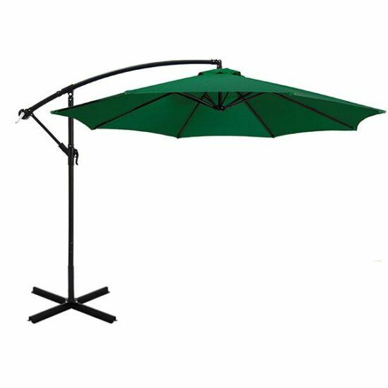 Függő napernyő, (2,7 m, zöld)