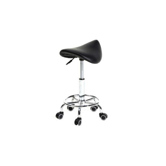 Nyerges, gurulós kozmetikai szék (fekete)
