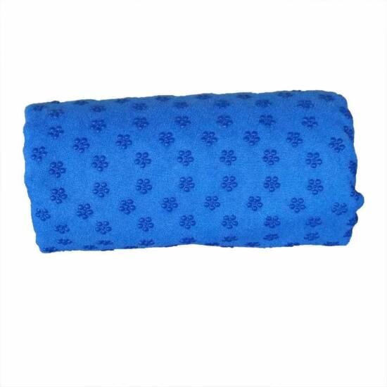 Csúszásgátlós jóga törölköző, ajándék táskával (kék)