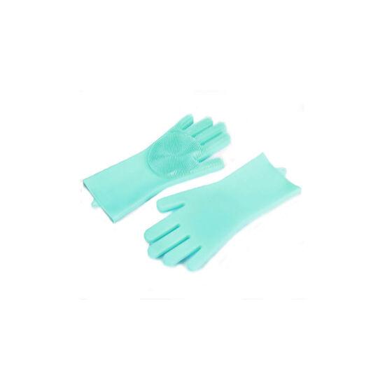 Szilikon mosogató kesztyű (zöld)