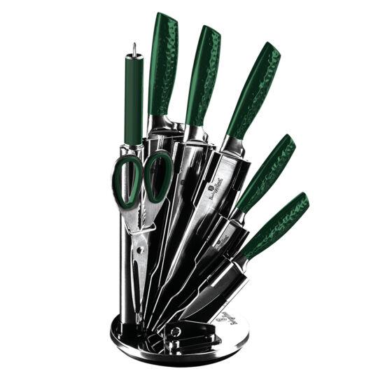 8 részes rozsdamentes acél késkészlet állvánnyal, Emerald Collection