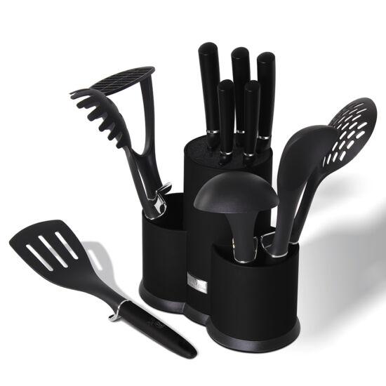 12 részes konyhai készlet késekkel és kiszedőkkel, Royal Black Collection