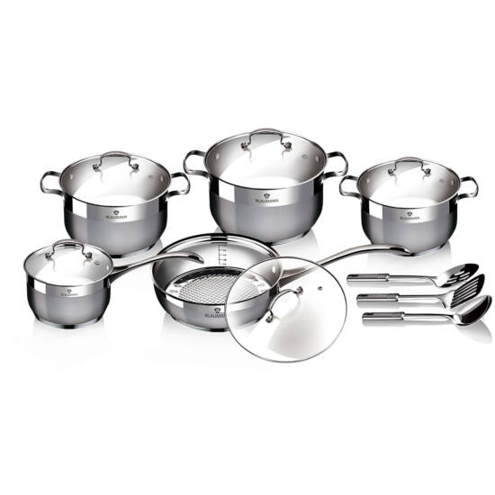 13 részes rozsdamentes acél edénykészlet, Gourmet Line