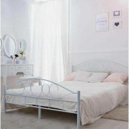 Fém ágykeret ajándék ágyráccsal (160x200cm, fehér)