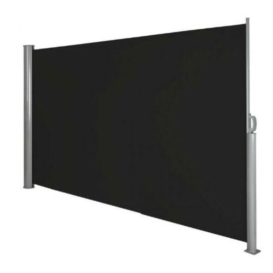 Kihúzható árnyékoló fal (160x300 cm, fekete)