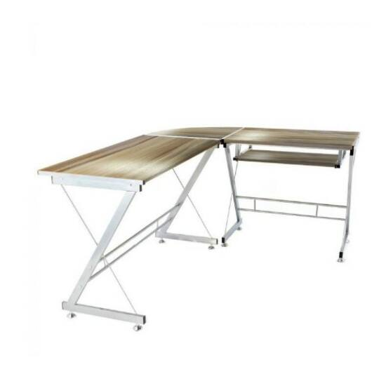 L alakú irodai asztal (barna)