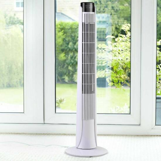Oszlop ventilátor (fehér)