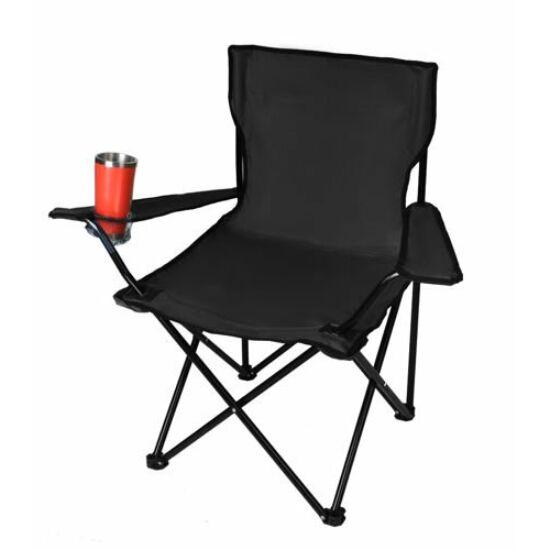Összecsukható horgász szék pohártartóval és hordtáskával