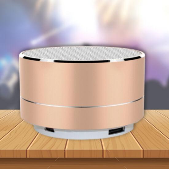 Mini design bluetooth hangszóró (arany)