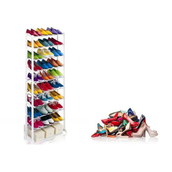 30 férőhelyes cipőtartó állvány (fehér)