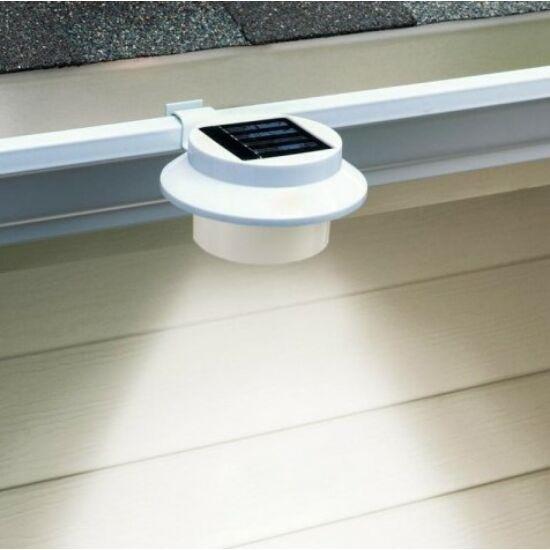 Napelemes ereszcsatorna lámpa (fehér, 2 darabos csomag)