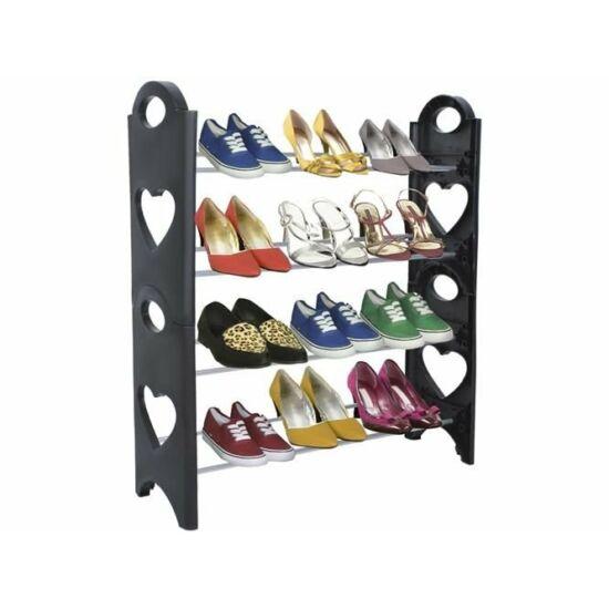 4 szintes cipőtároló állvány 12 pár cipőnek